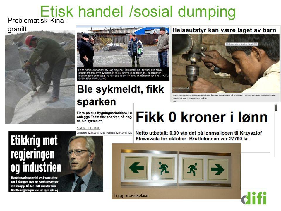 Etisk handel /sosial dumping