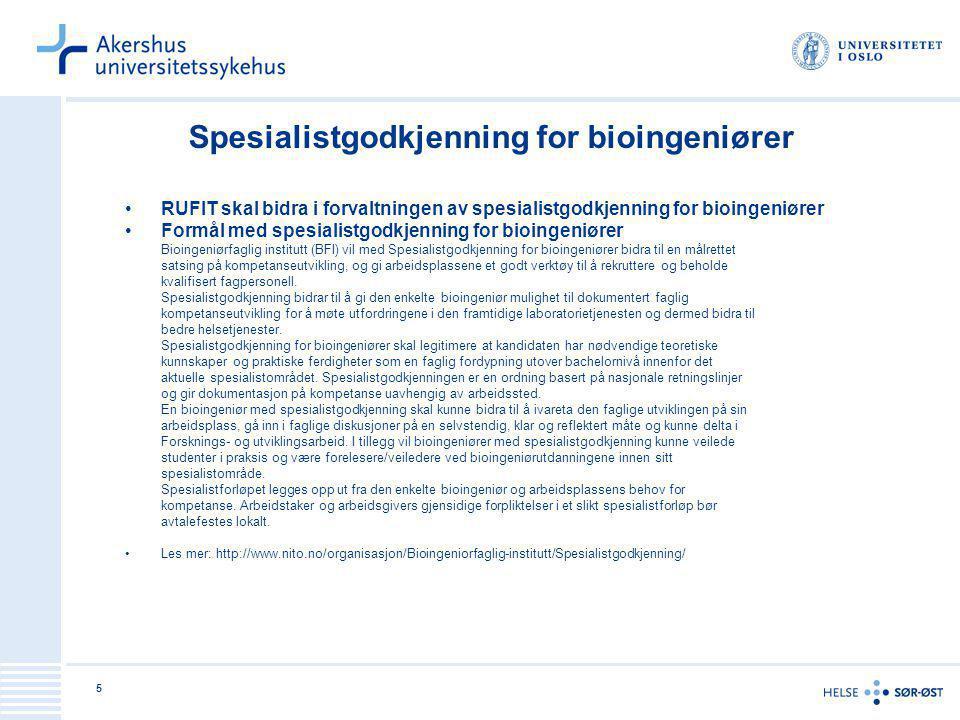 Spesialistgodkjenning for bioingeniører