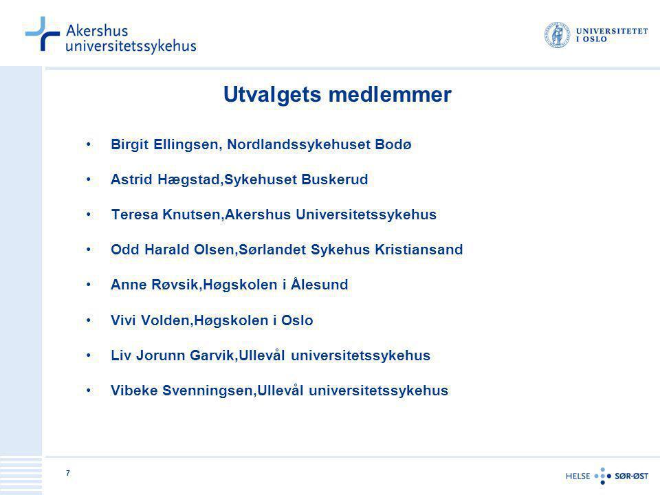 Utvalgets medlemmer Birgit Ellingsen, Nordlandssykehuset Bodø