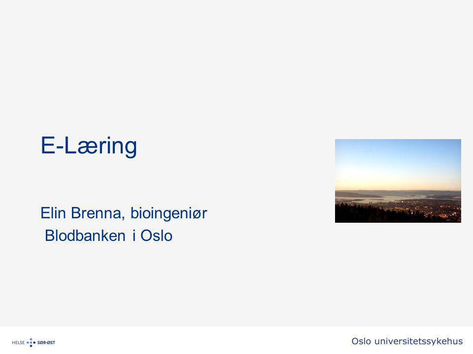 Elin Brenna, bioingeniør Blodbanken i Oslo