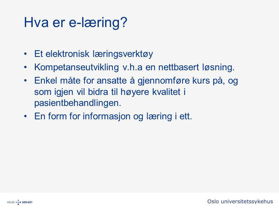 Hva er e-læring Et elektronisk læringsverktøy