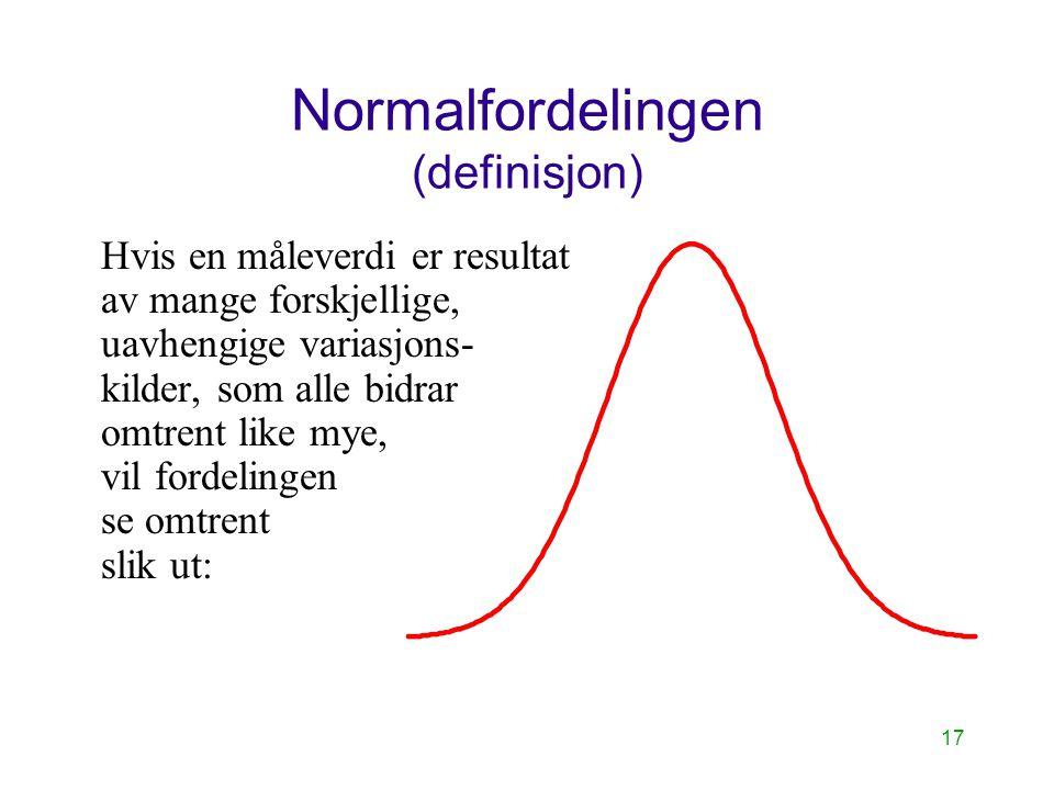 Normalfordelingen (definisjon)