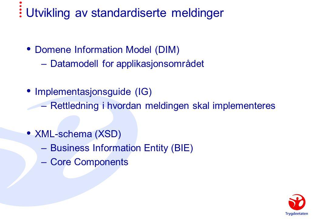 Utvikling av standardiserte meldinger