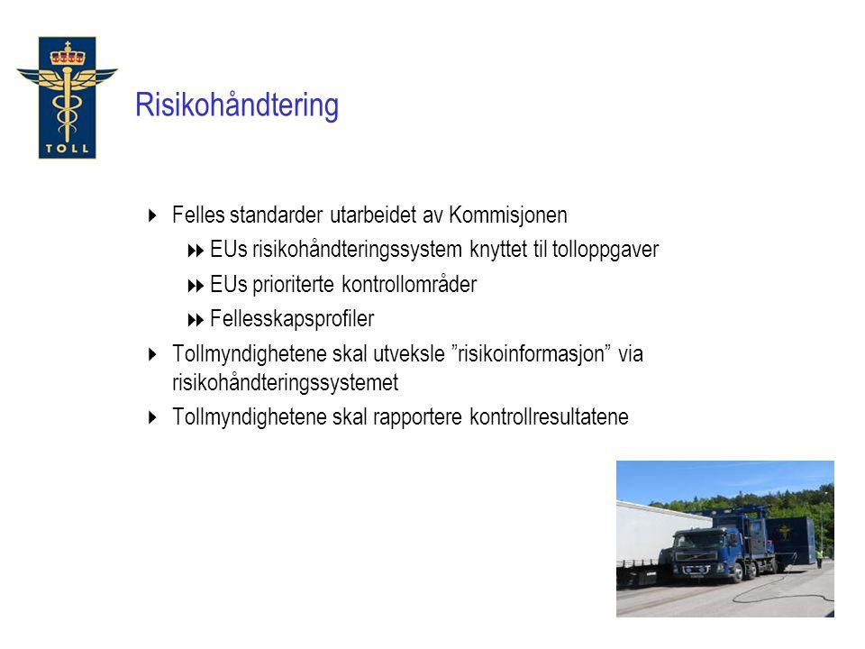 Risikohåndtering Felles standarder utarbeidet av Kommisjonen