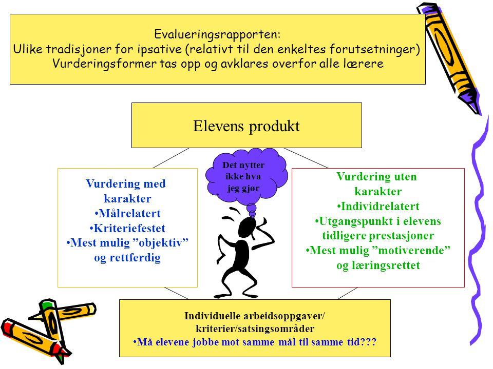 Elevens produkt Evalueringsrapporten: