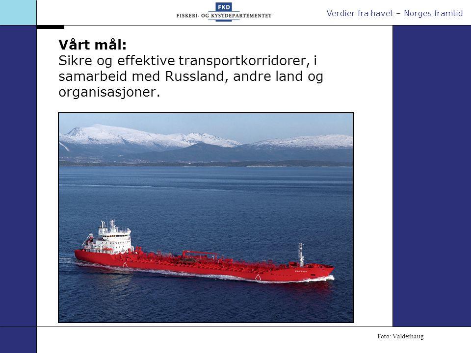 Vårt mål: Sikre og effektive transportkorridorer, i samarbeid med Russland, andre land og organisasjoner.