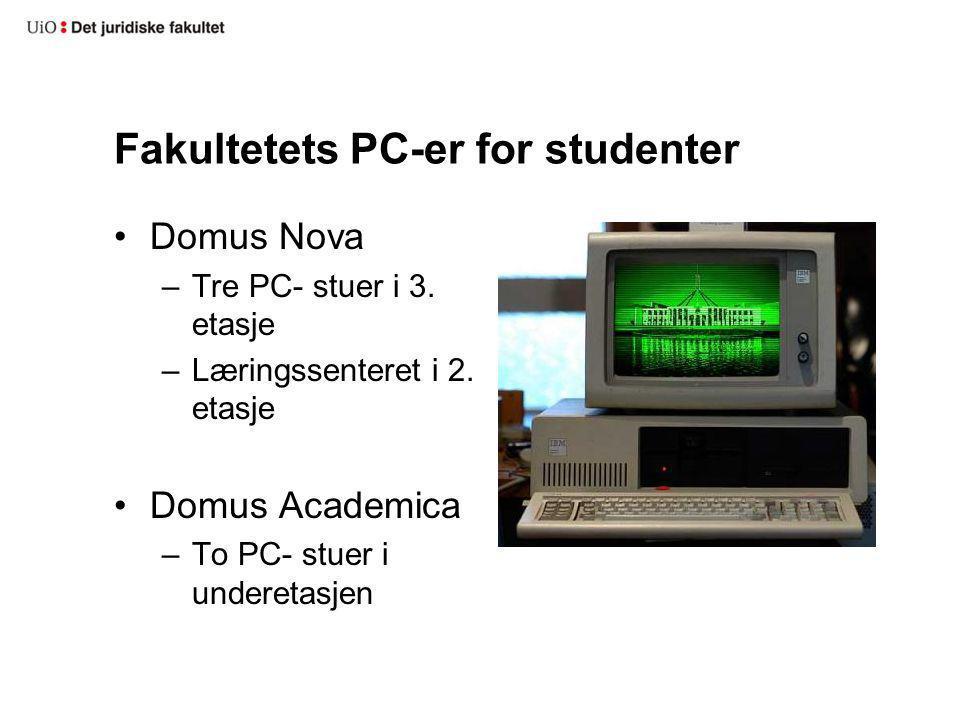 Fakultetets PC-er for studenter