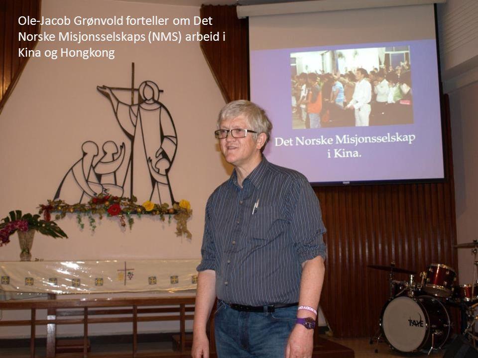 Ole-Jacob Grønvold forteller om Det Norske Misjonsselskaps (NMS) arbeid i Kina og Hongkong