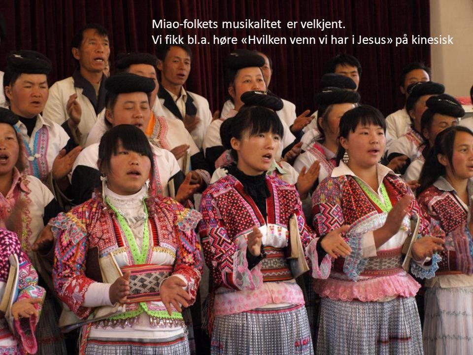 Miao-folkets musikalitet er velkjent.
