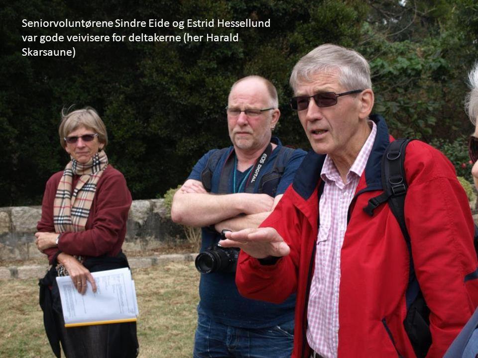 Seniorvoluntørene Sindre Eide og Estrid Hessellund var gode veivisere for deltakerne (her Harald Skarsaune)