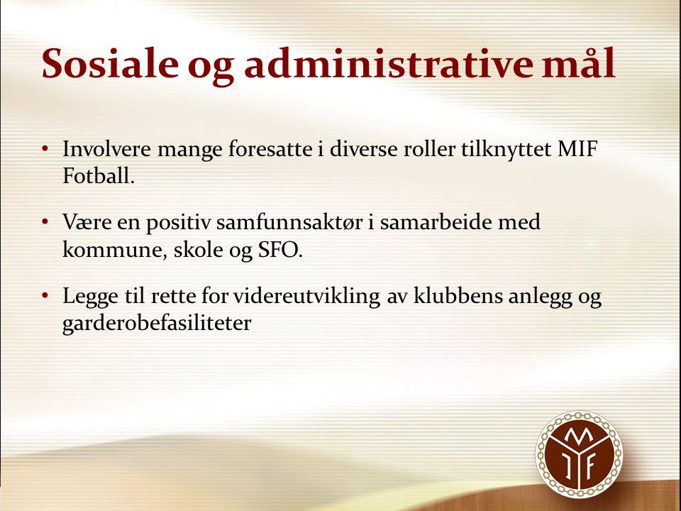Sosiale og administrative mål