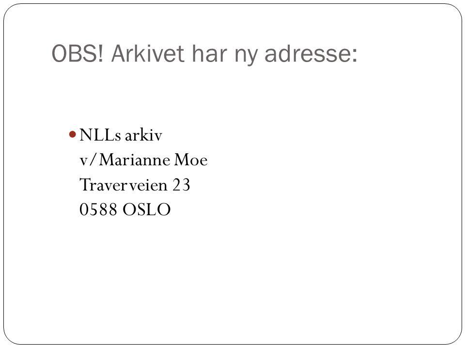 OBS! Arkivet har ny adresse: