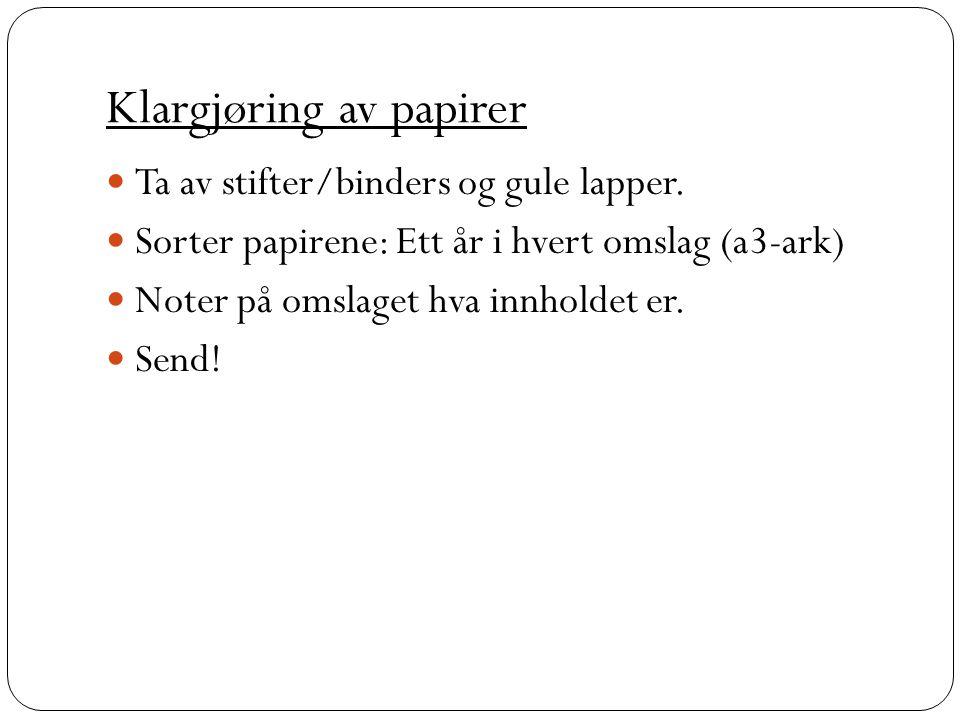 Klargjøring av papirer