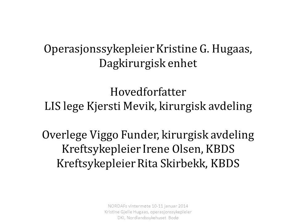Operasjonssykepleier Kristine G