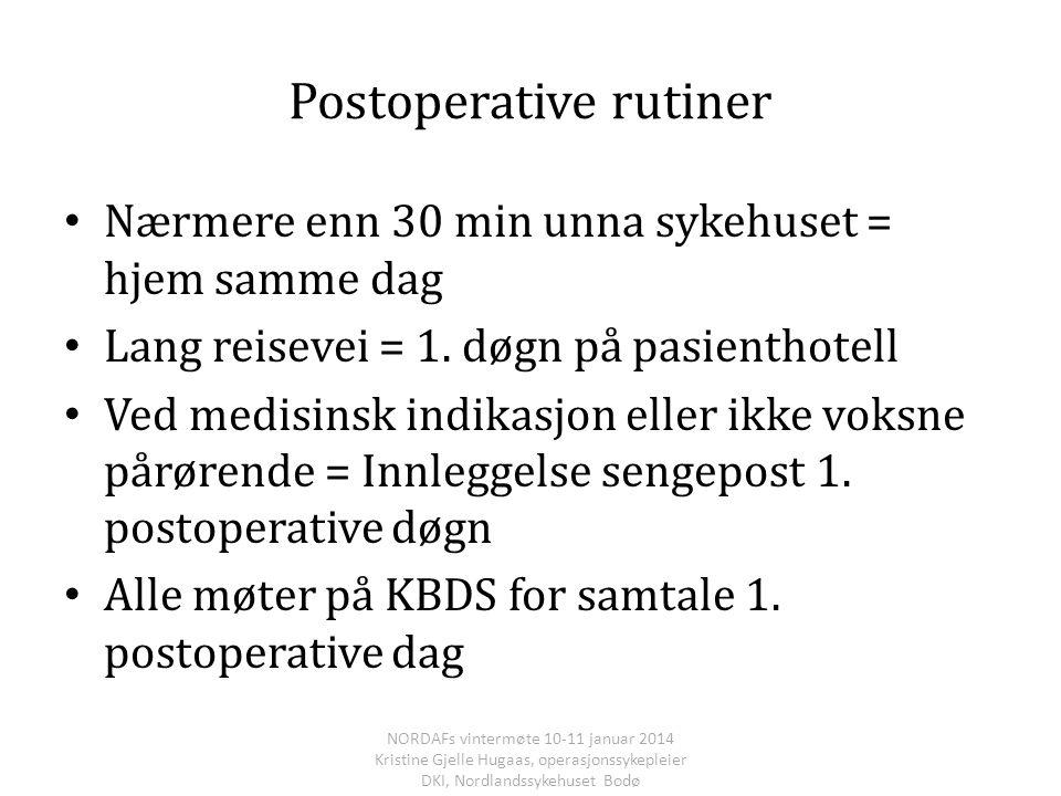 Postoperative rutiner
