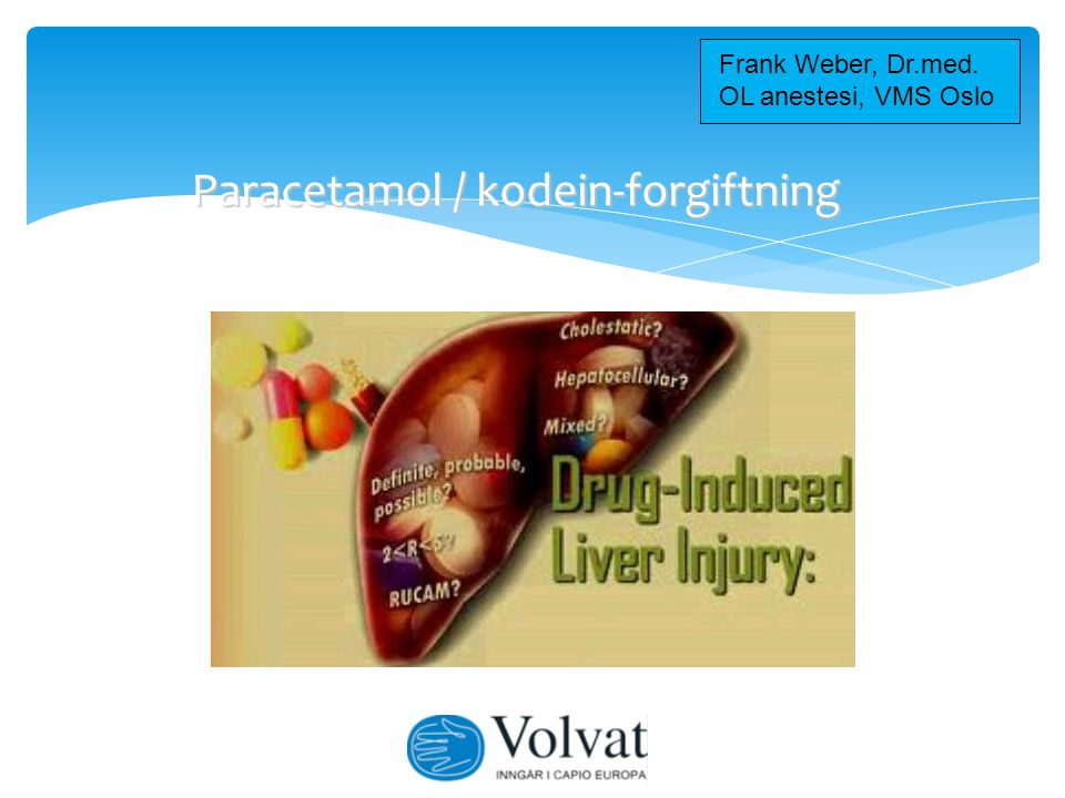Paracetamol / kodein-forgiftning