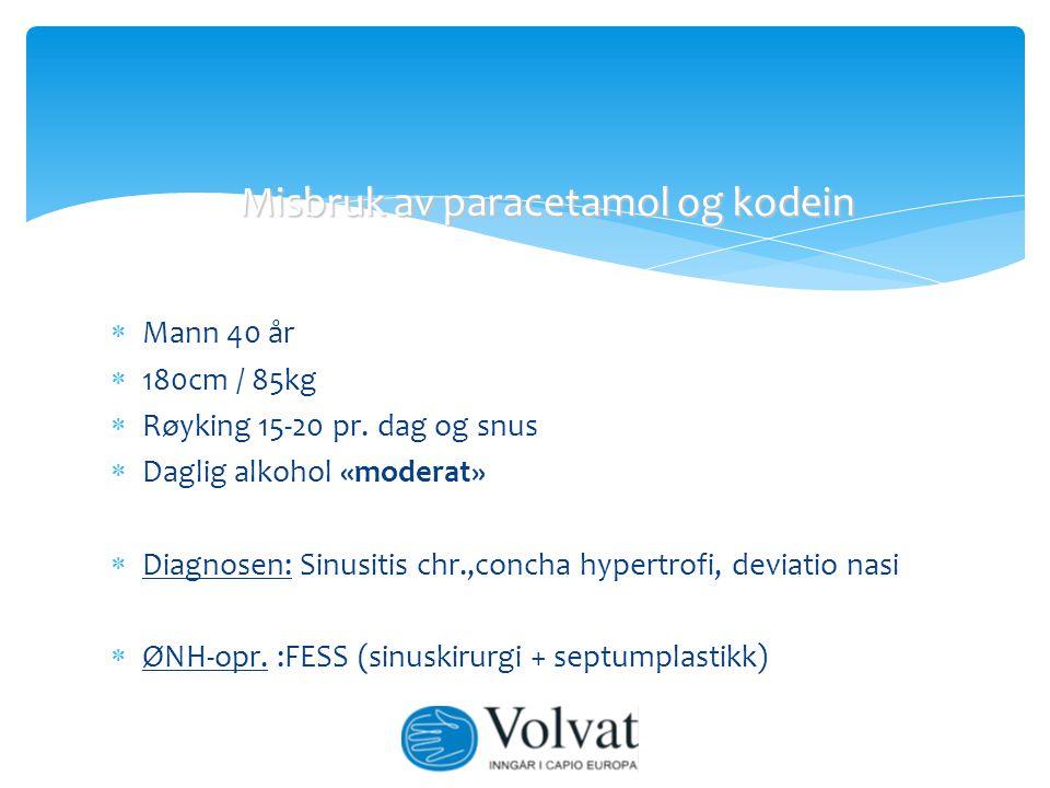 Misbruk av paracetamol og kodein