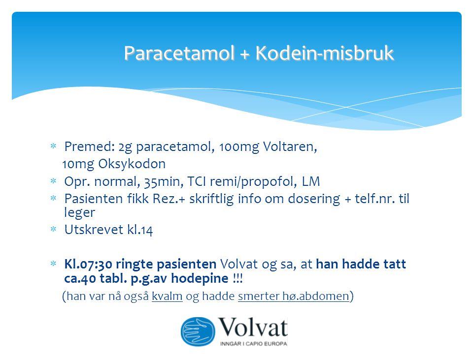 Paracetamol + Kodein-misbruk