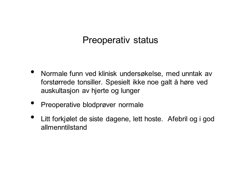 Preoperativ status