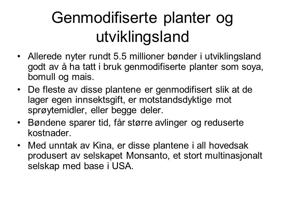 Genmodifiserte planter og utviklingsland