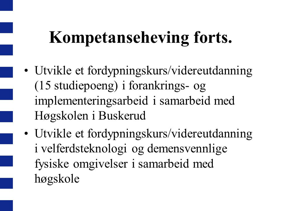 Kompetanseheving forts.