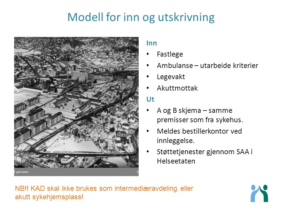 Modell for inn og utskrivning