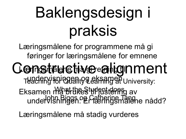 Baklengsdesign i praksis