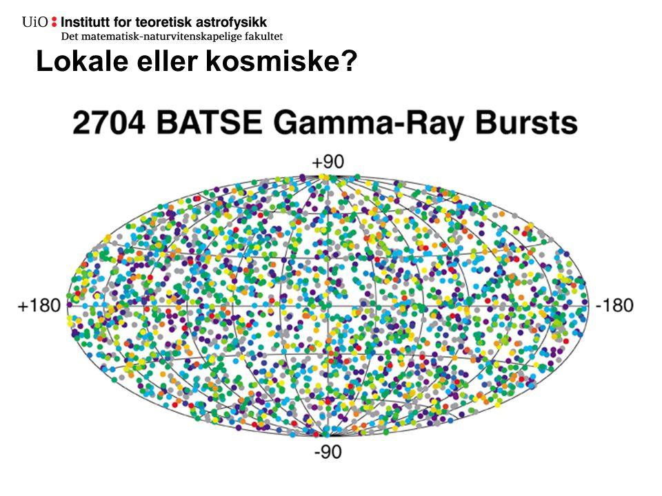 Gammaglimt Gammaglimt er sterke Avstander i milliarder lysår