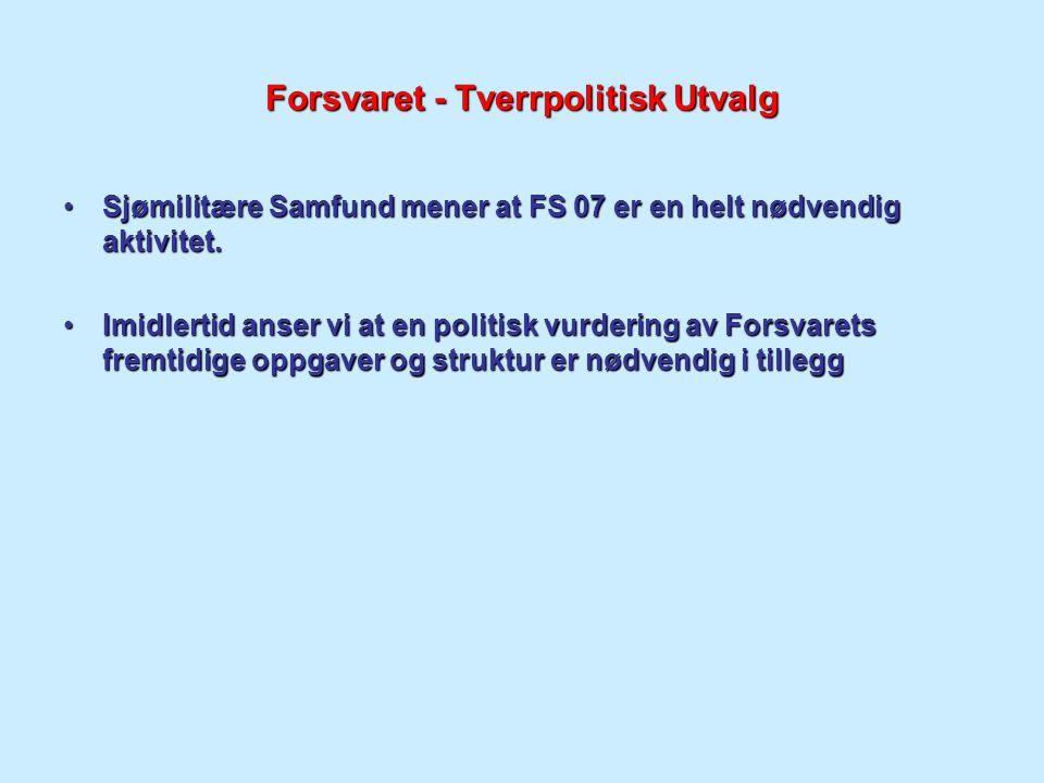 Forsvaret - Tverrpolitisk Utvalg