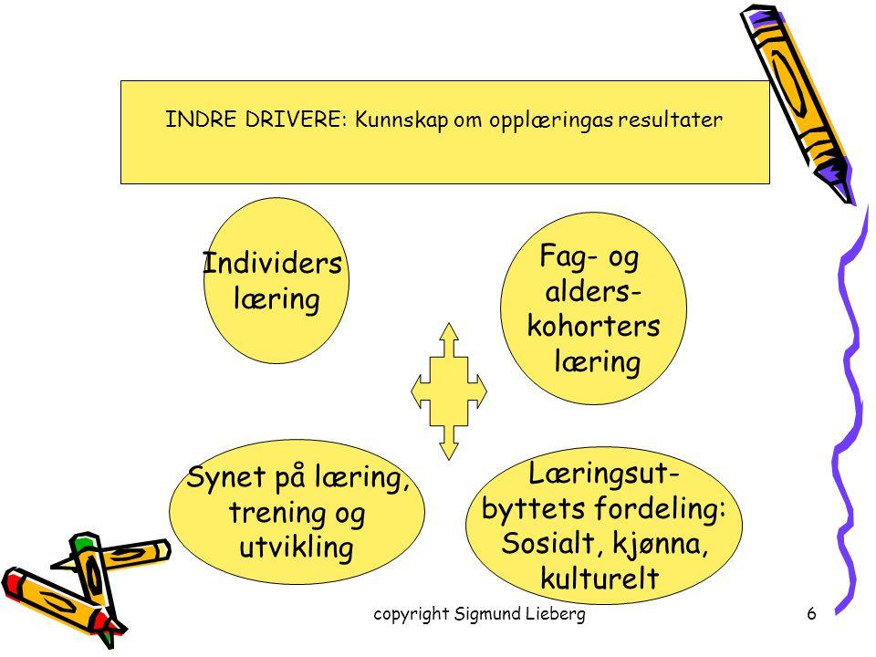 Individers Fag- og læring alders- kohorters læring Synet på læring,