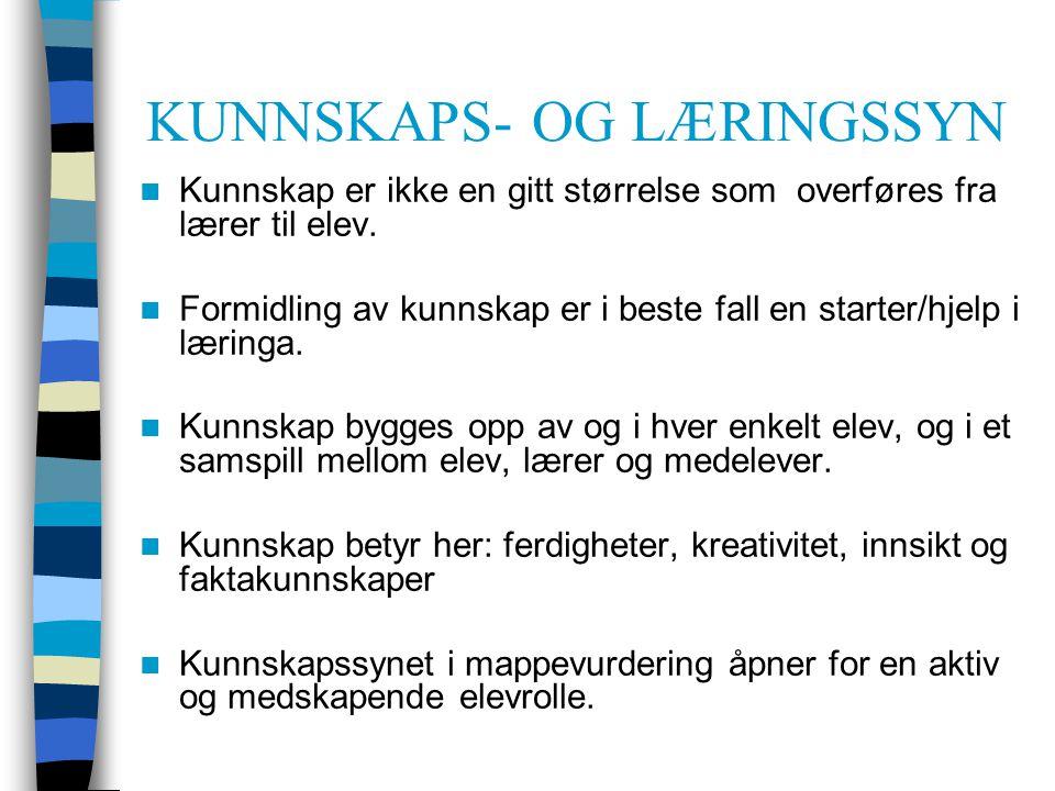KUNNSKAPS- OG LÆRINGSSYN