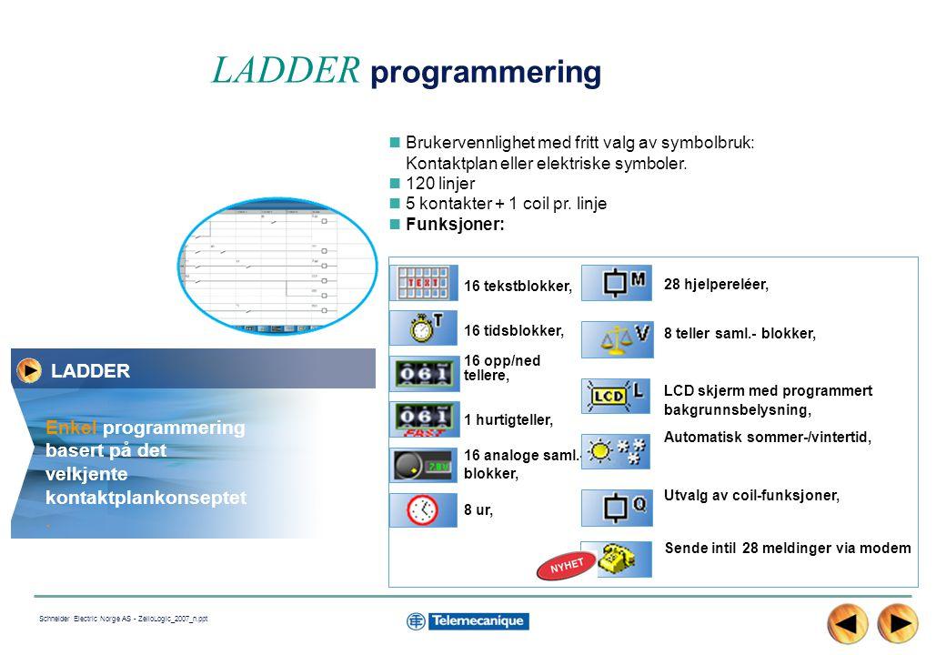 LADDER programmering LADDER