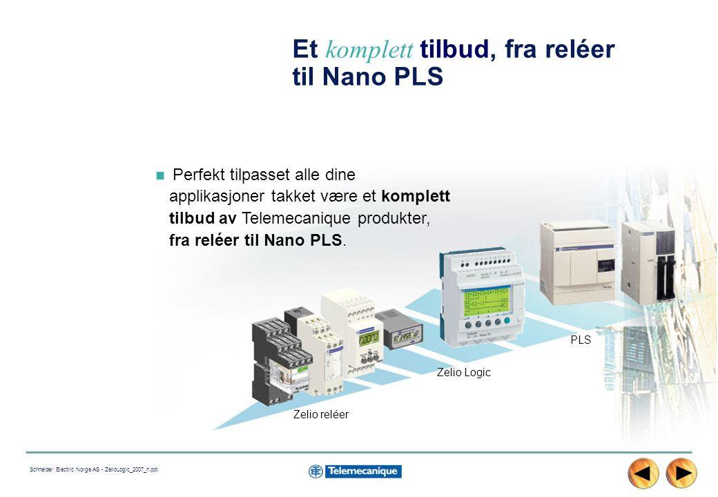Et komplett tilbud, fra reléer til Nano PLS