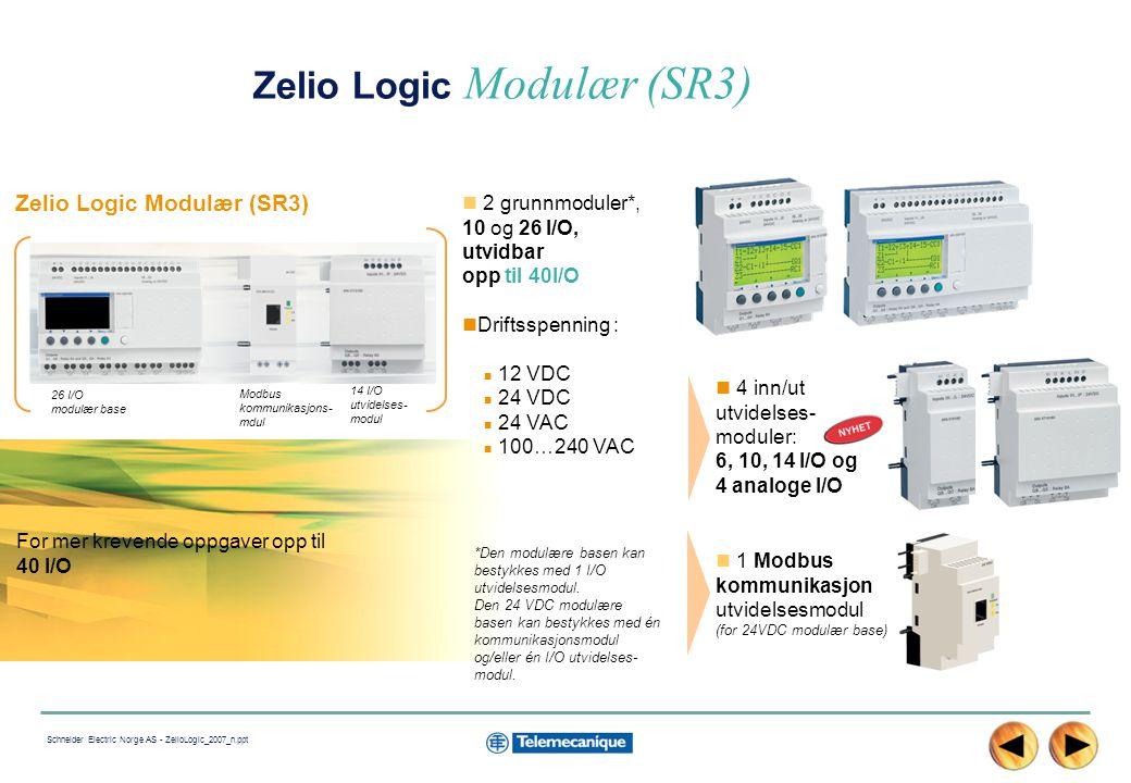 Zelio Logic Modulær (SR3)