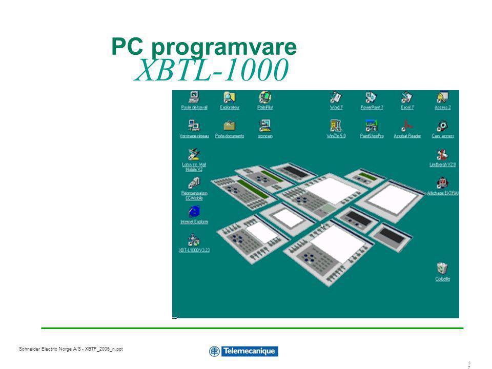 PC programvare XBTL-1000