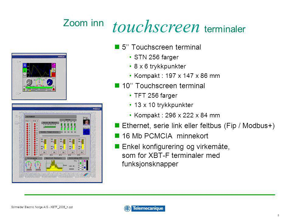 touchscreen terminaler