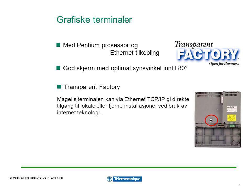Grafiske terminaler Med Pentium prosessor og Ethernet tilkobling