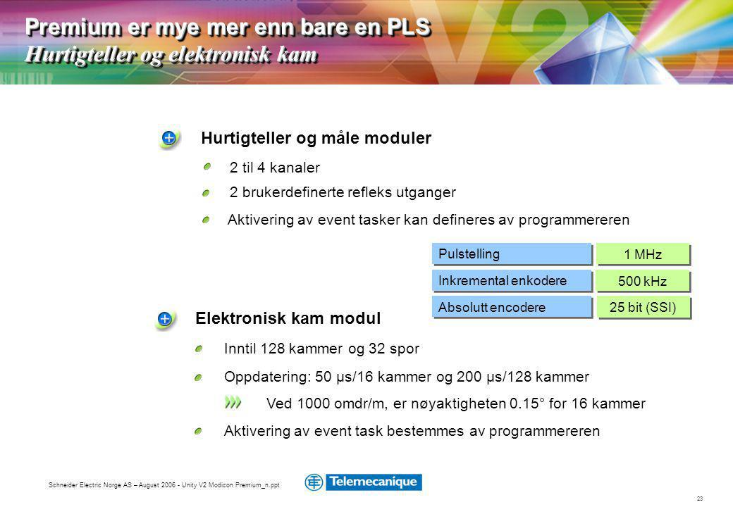 Premium er mye mer enn bare en PLS Hurtigteller og elektronisk kam