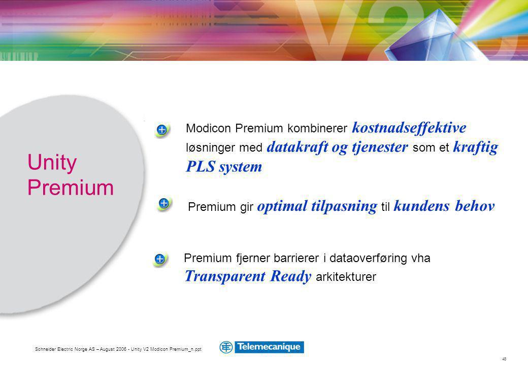 Modicon Premium kombinerer kostnadseffektive løsninger med datakraft og tjenester som et kraftig PLS system