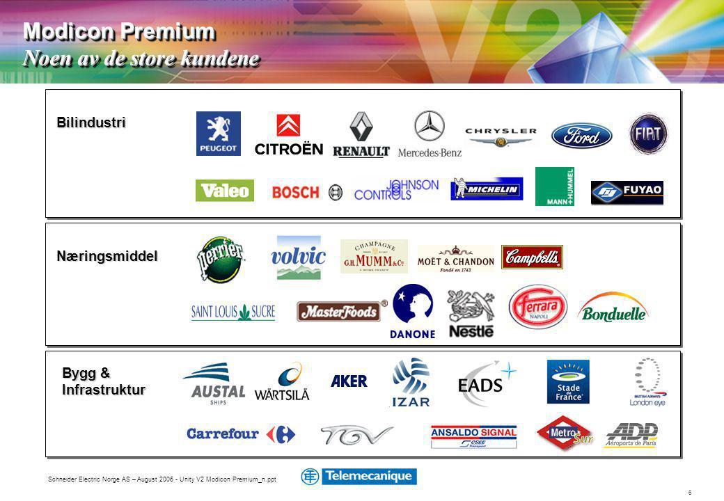 Modicon Premium Noen av de store kundene