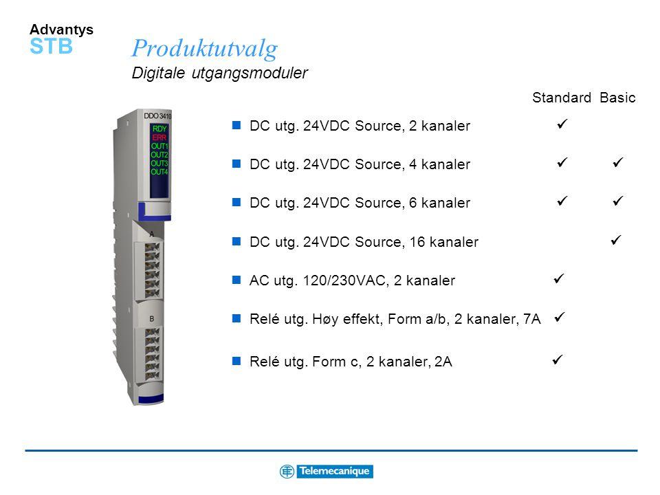 Produktutvalg Digitale utgangsmoduler