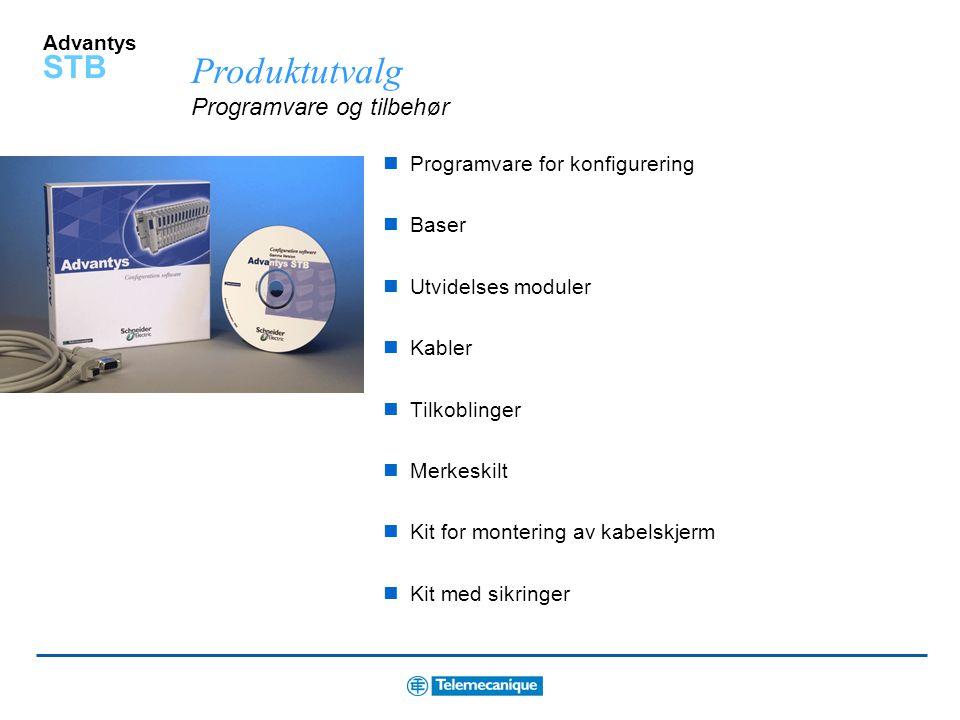 Produktutvalg Programvare og tilbehør