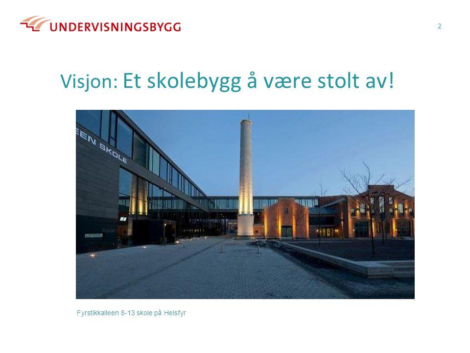 Visjon: Et skolebygg å være stolt av!