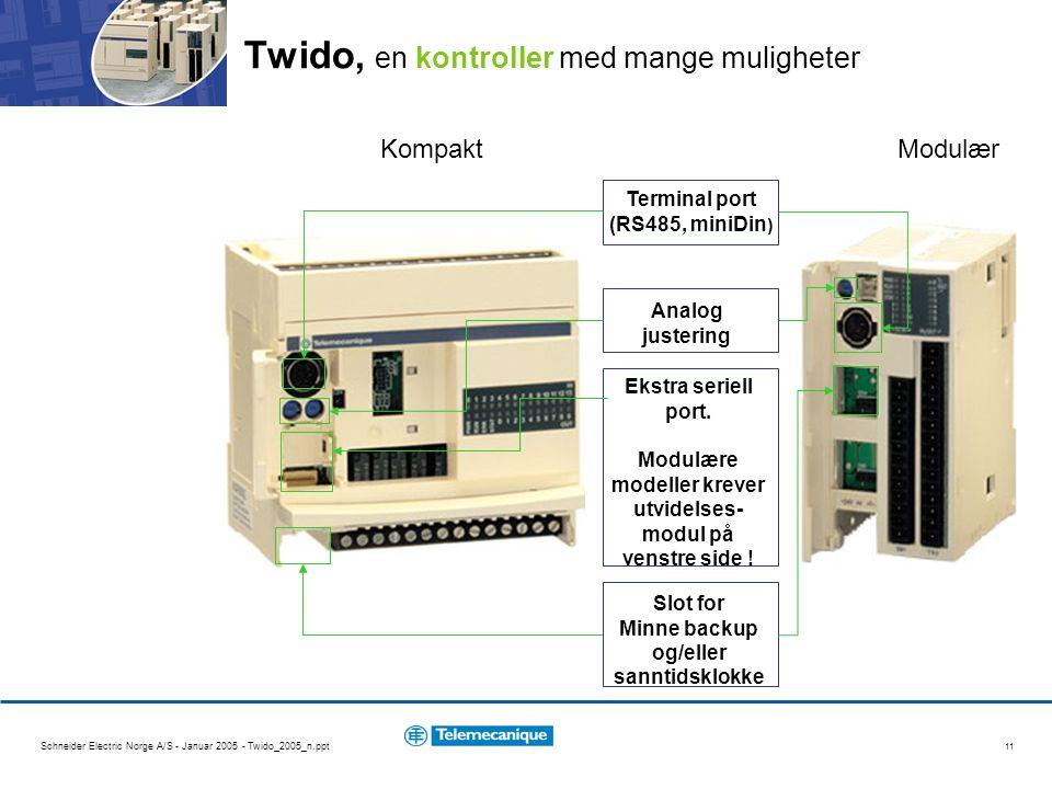 Twido, en kontroller med mange muligheter