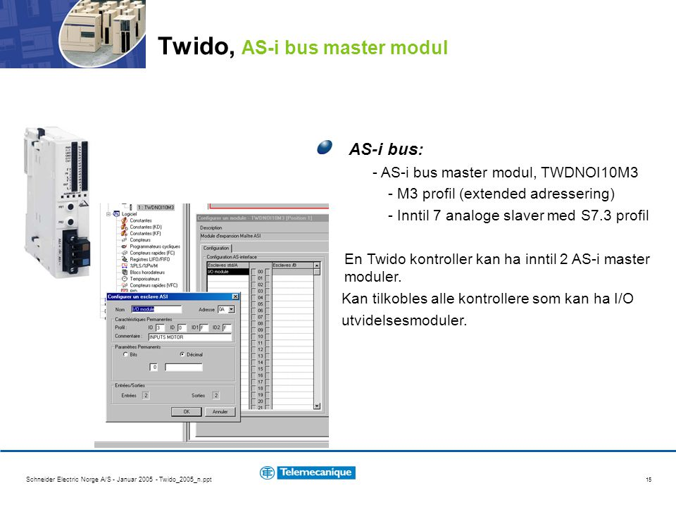 Twido, AS-i bus master modul
