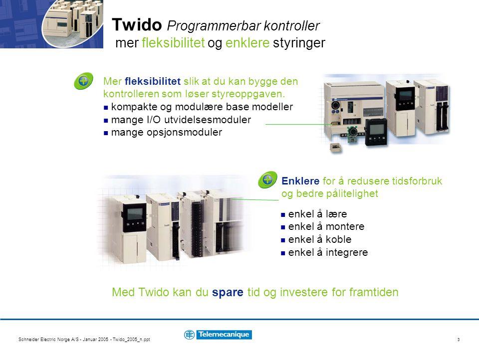 Twido Programmerbar kontroller mer fleksibilitet og enklere styringer