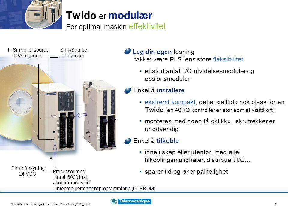 Twido er modulær For optimal maskin effektivitet