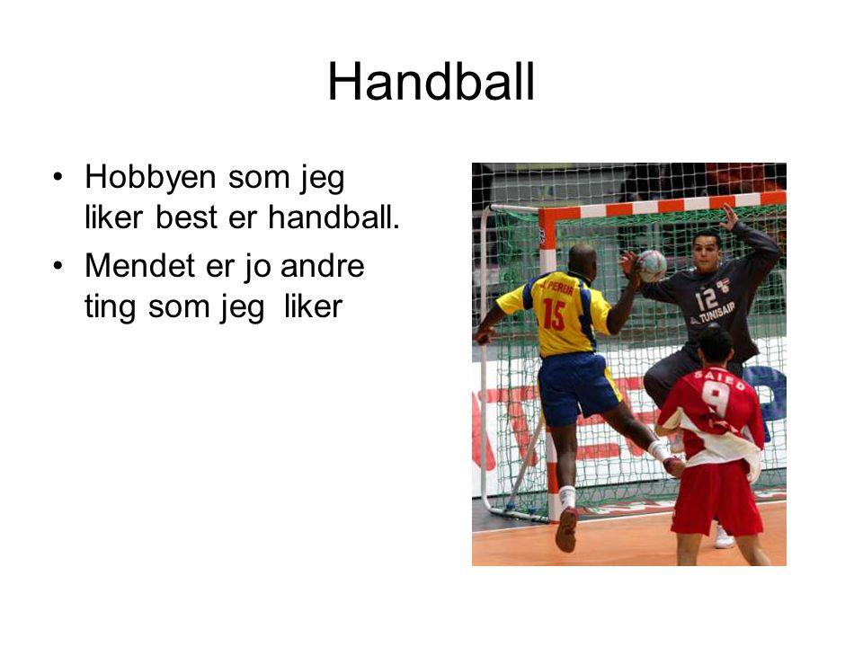 Handball Hobbyen som jeg liker best er handball.