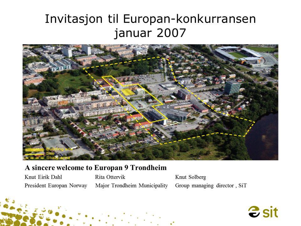 Invitasjon til Europan-konkurransen januar 2007