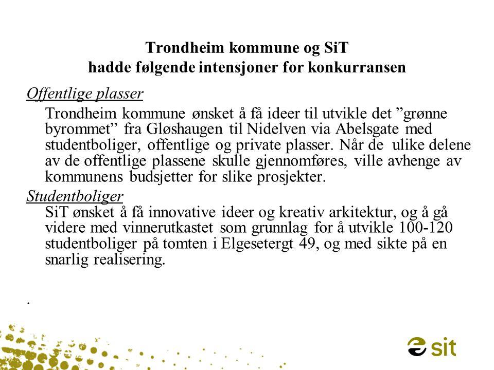Trondheim kommune og SiT hadde følgende intensjoner for konkurransen
